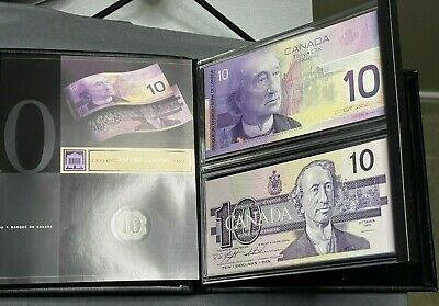 Canadian Lasting Impressions Limited Edition Collectors Set of 2 $10 Bills (892)