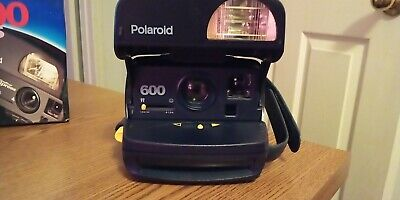 Polaroid One Step Express Blue 600 Instant Film Camera Not Tested