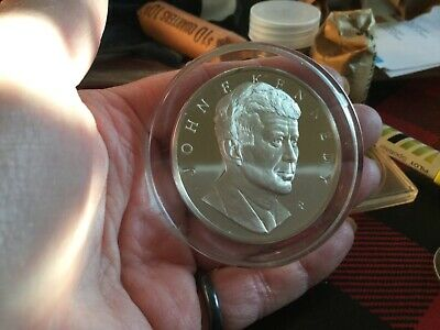 Sterling silver,JFKennedy memorial medal(coin)proof,1000 grains,Silver scrap?