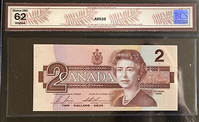 Bank Of Canada 1986 - Rare EBX3891765 Replacement - Bonin - Thiessen - Ch Unc 62