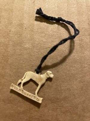 Vintage 1930s Schenley's Old Quaker Whiskey Dog Charm - #17