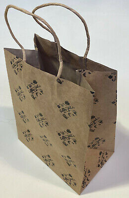 Brown Kraft Bag with Coffee Joint Logo Shopping Gift Present Bag