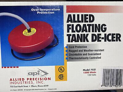 Allied Precision DeIcer Float Tank 1500wt Stainless Steel Element 7521 Ice Free
