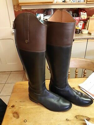 Brogini Sanremo Ladies Horse Riding Laced Field Boots soft grained leather and a