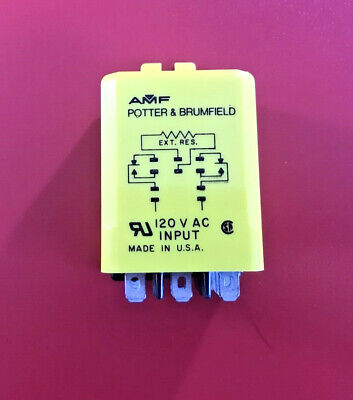 Potter /& Brumfield Time Delay Relay CUF-42-70120 Qty. 2 Details about  /