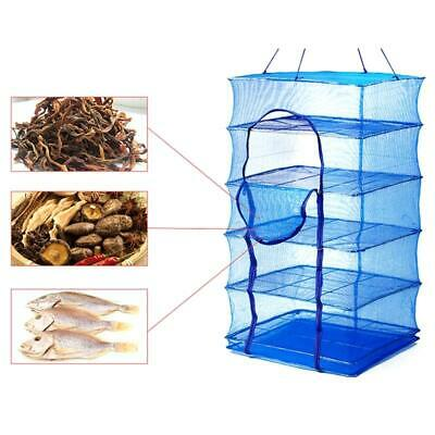 FOLDABLE 4 LAYERS Fish Net Drying Rack Folding Mesh Hanging Vegetable  Dishes - $19.70 | PicClick