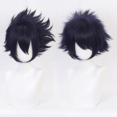 Anime Cartoon Characters Amajiki Tamaki Purple Wig Hair Fans Cosplay Exhibit SP
