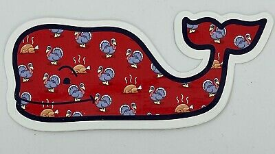TPW NEW Authentic Vineyard Vines Thanksgiving Turkey Whale Print Decal