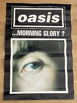 Oasis Whats the Story Morning Glory 1995 Original Promo Poster Liam Gallagher