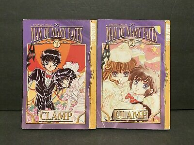 1~2 Complete Set JAPAN Clamp manga Man of Many Faces 20 Faces Please!