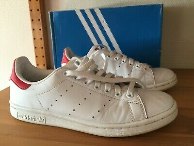 CHAUSSURES ADIDAS STAN Smith 41 1/3 (US 8) Blanc/Rouge pour Homme ...
