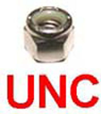 1/4 UNC Stainless Nyloc 1/4-20 UNC Nylon Insert Locking Nuts - (7/16 AF) x20