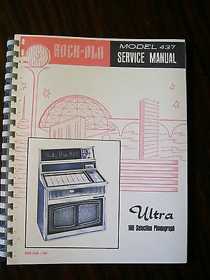 NEW Rock-Ola 437-160 Selection Service Manual /& Parts List  Printed in Color!