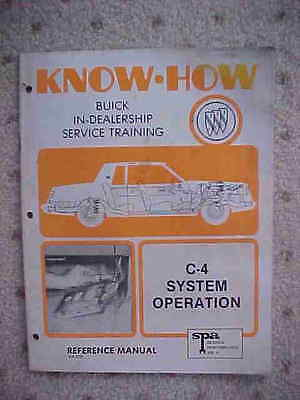 1979 Buick Know How Auto Manual C4 System Operation B