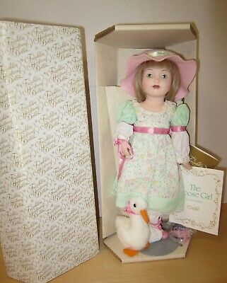 "Franklin Mint 12""bisque The GOOSE GIRL  MIB 1986"
