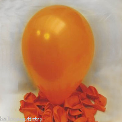 "50 x Orange 12"" Pearlised Balloons"