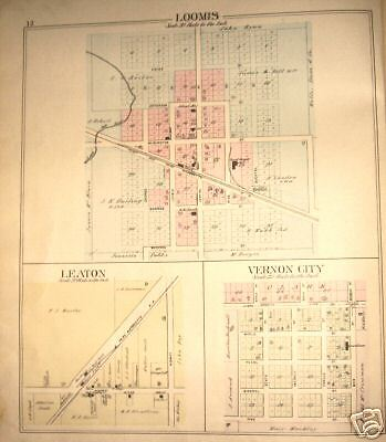 Loomis, Vernon, Isabella County, Michigan Town Plat Map