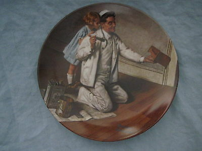 1983 Norman Rockwell THE PAINTER Collector Plate