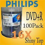 Philips 16X DVD+R Shiny Top  100 Pack  $.38 per disc