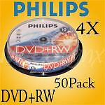 Philips 4X DVD+RW Rewritable  50 Pack  $.74 per disc