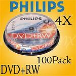 Philips 4X DVD+RW Rewritable  100 Pack  $.68 per disc