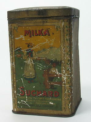 Antique Suchard German Milka Cocoa Cacao Tin Litho Box