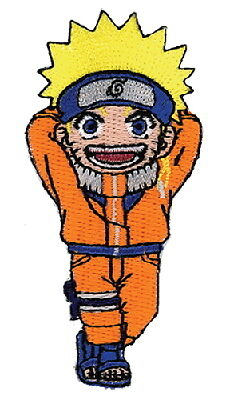 "Naruto Laughing Figure Embroidered  4"" Patch"