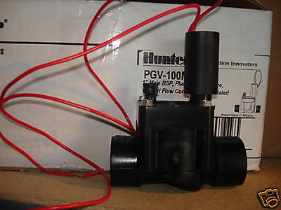 """Hunter PGV-100G 1"""" Female Thread 24V Solenoid Valve, NPT, Without Flow Control"""