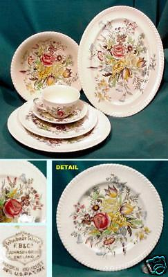 JOHNSON BROS, Staffordshire BOUQUET,Replacements ~ SALAD PLATE