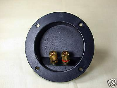 2pcs Speaker Inlet Terminal 2 pins Gold plated Taiwan Outside Dia= φ104.5mm