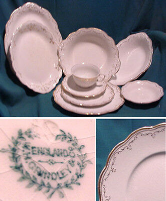 GRINDLEY,Pattern #GRI 301, Gold Scrolls,REPLACEMENT PCS