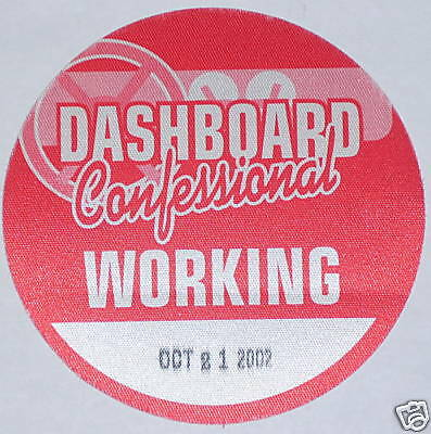Dashboard Confessional BACKSTAGE TOUR satin PASS 2002