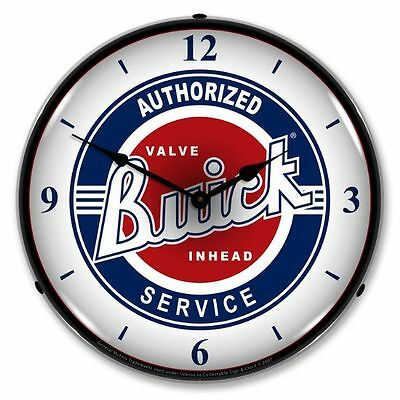 New Buick Service Advertising Backlit Lighted Retro Clock - Free Shipping*