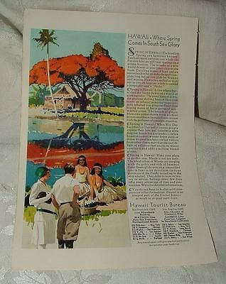 1929 AD Union Pacific Railroad Train Grand Canyon & HAWAII Double Sided Ad L@@K