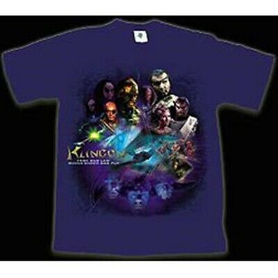 Star Trek TV & Movie Klingons & BOP Collage T-Shirt, SIZE LARGE NEW OUT OF PRINT