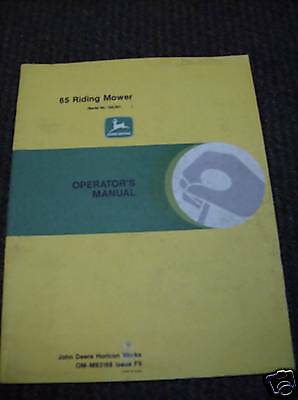JD John Deere 65 Riding Mower Operators Manual, OMM83166