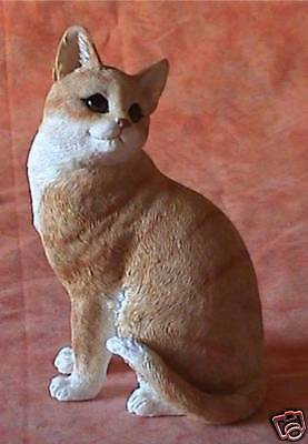 Figurine Chat Assis Roux 2