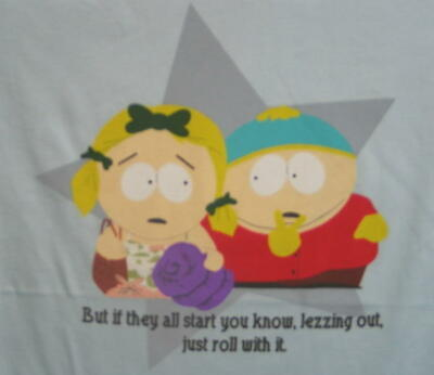 South Park Cartman Lezzing Out, Roll With It T-Shirt 2X