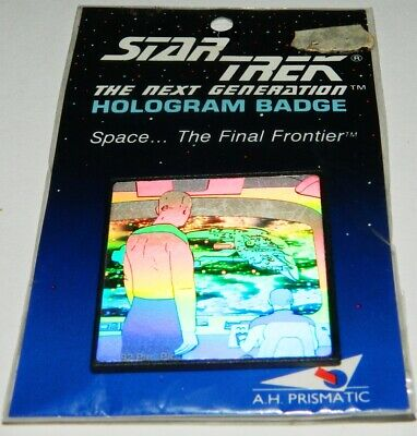 Star Trek TNG Picard & Romulan Hologram Pin Badge, 1992