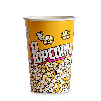Popcorn supplies - Yellow Popcorn cups / tubs 46oz qty of 50