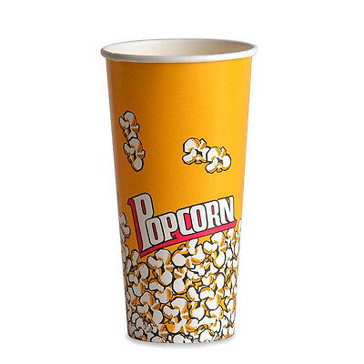 Popcorn supplies - Yellow Popcorn cups / tubs 24oz qty of 100