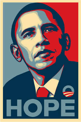 Poster Barack Obama Yes We Can President Presidente A5