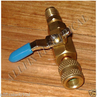 R410A 1/4-5/16 Adaptor & Shutoff Valve - Part No. RF498