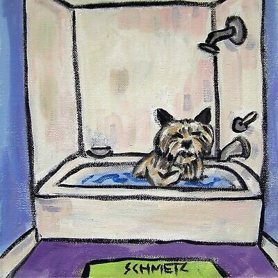 cairn terrier bath picture animal ceramic dog art tile