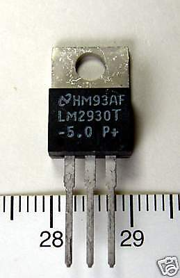 10pc Regulator IC LM2930T-5.0 LM2930T -5.0 LM2930T-5  5V 150mA TO-220 NS