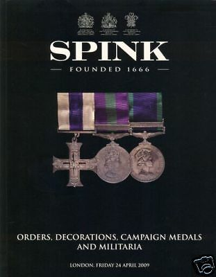 Spink Catalogue Orders Decorations Medals 24/04/09