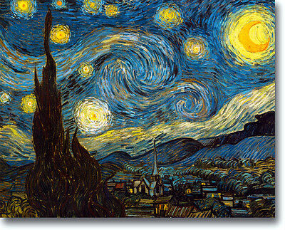 Art Print Van Gogh Starry Night Stretched Canvas Repro