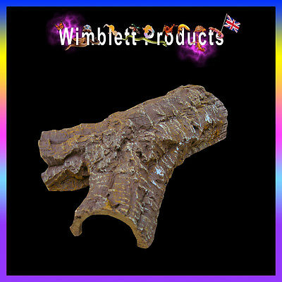 Reptile Bark Effect Cave and Hide for Snakes, Geckos, Lizards, Spiders, Insects