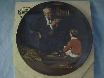 Norman Rockwell THE TYCOON Collector Plate 1982 w/Box BY KNOWLES