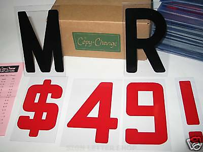 "6"" on 6 7/8"" Plastic Flexible Letters - Block Style Font for Marquee Signs"